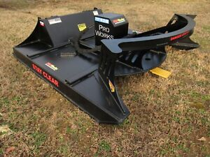 72 Pro Works Severe Duty Skid Steer Brush Rotary Cutter Attachment Free Ship