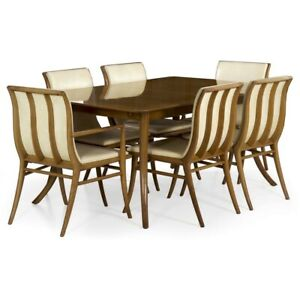 Set Of Six Mid Century Dining Chairs Table By T H Robsjohn Gibbings C 1957