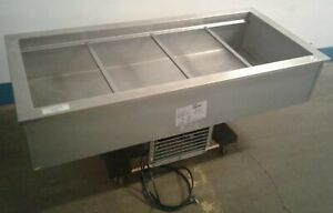 Delfield N8156b Commercial 4 Well Refrigerated 56 x 26 Drop in Cold Pan Our 1