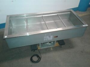 Delfield N8156b Commercial 4 Well Refrigerated 56 x 26 Drop in Cold Pan Our 2