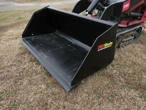 Toro Dingo Mini Skid Steer Attachment 48 Smooth Mulch Litter Bucket Ship 149