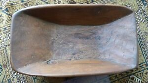 Great Primitive Dough Bowl Hand Carved Smaller Size Excellent Condition
