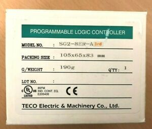 Teco Sg2 8er a 3rd Programmable Logic Controller Brand New free Shipping