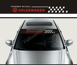 Vw Front Windshield Decal Vinyl Car Stickers For Volkswagen Exterior Decoration