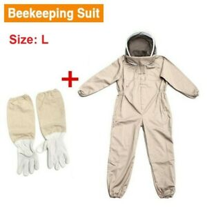 Size L Full Protective Heavy Duty Beekeeper Beekeeping Suit bee Keeping Gloves
