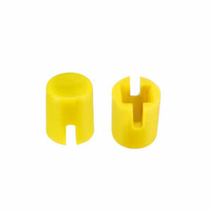 50pcs 4 6x5 5mm Pushbutton Switch Caps Cover Yellow For 6x6x7 3mm Tact Switch