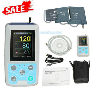 Us 24 Hours Ambulatory Blood Pressure Monitor Abpm50 3 Cuffs pc Software Contec