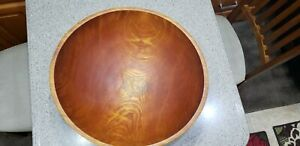 Beautiful Vintage Large Hand Carved Wooden Bowl