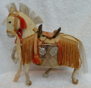Antique Japanese Toy Samurai Horse Doll Stand Good Condition