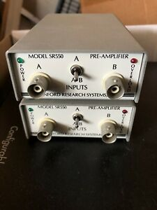 Stanford Research Sr550 Fet Input Preamplifier For Lock in amplifiers Photonic