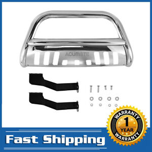 Chrome Ss Front Bumper Bull Bar Grille Guard For 2000 06 Toyota Tundra Sequoia