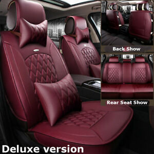 Wine Red Luxury Car Microfiber Leather Seat Cover For Nissan Altima Sentra Rogue