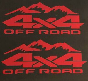 4x4 Off Road Decal Sticker Truck Ford F 150 Chevy Silverado Toyota Tacoma Tundra