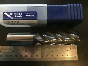 1 1 00 Carbide Rougher End Mill 4 Flute Altin Coated 5 Oal 1in New Promax