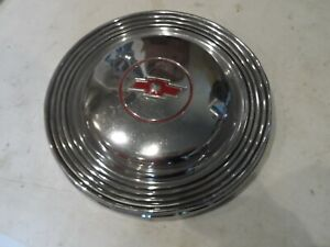 Chevy 1965 Chevrolet Dog Dish 10 5 Red Bowtie Hub Cap Vintage Hot Rod Gm Hubcap