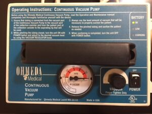 Ohmeda Medical Portable Continuous Vacuum Pump With New Battery