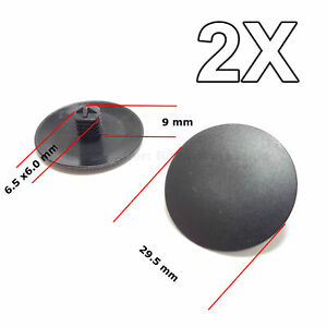 2x Hood Insulation Retainer Tree Button Retainer Car Clips For Honda
