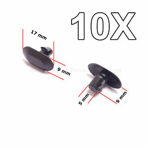 10x Interior Door Card Rubber Trim Clips For Renault Peugeot Citroen