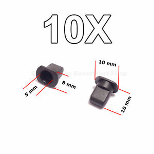 10x Rear Badge Emblem Retainers Clips For Vw Mk1 Mk2 Rabbit Scirocco Vanagon