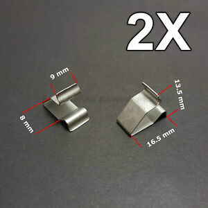 2x Sheet Metal Clamp Metal Retaining Clips Plug In Clips For Audi Vw Skoda