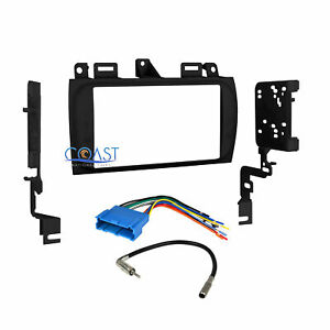 Car Radio Stereo Double Din Dash Kit Wire Harness For 1996 2005 Cadillac