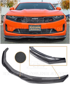 For 19 Up Camaro Rs Ss T6 Style Carbon Fiber Front Bumper Lip Wing Splitter
