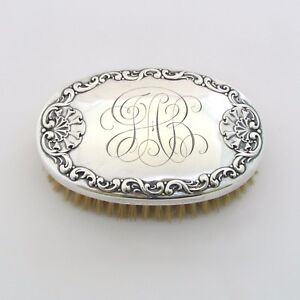 Antique Whiting Sterling Silver Clothes Brush Vanity 5 1 2 Monogrammed