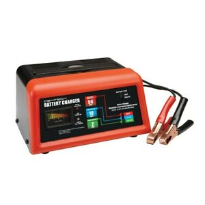 10 2 50 Amp 12v Manual Charger With Engine Start Portable Trickle Tender Battery
