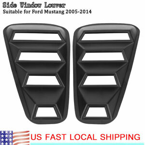 1 Pair Left Right Side Window Louver Scoop Cover Vent For Ford Mustang 2005 14