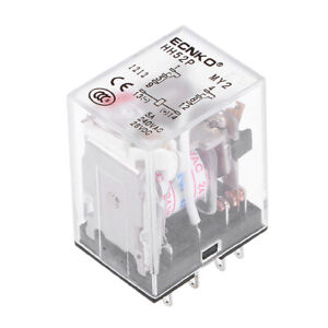 Hh52p Ac 24v Coil Dpdt 8 Pins Electromagnetic Power Relay Red Led