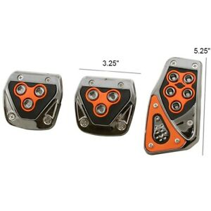 Alpena Orange Manual Transmission M T Brake Gas Pedal Pads For Car Truck Suv