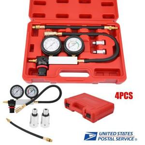 Pro Petrol Engine Compression Leakage Leakdown Detector Cylinder Leak Tester Kit