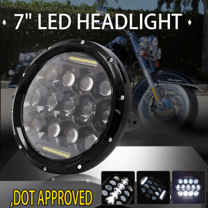 7 Inch Round Led Headlight Lamp Projector Motorcycle For Harley Davidson Ip67