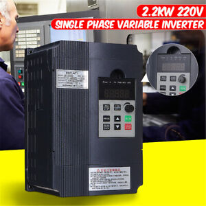 2 2kw 220v 3hp Single Phase Drive Inverter To Variable Frequency Converter Motor
