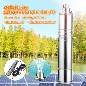 220v 750w 75m Stainless Submersible Pump Bore Deep Well Water 4000l h Low Noise