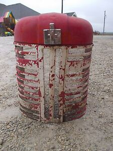 International 350 300 Utility Tractor Ih Front Nose Cone Hood Grill W screen Ihc