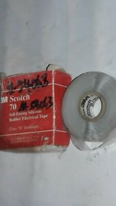Scotch 70 Self fusing Silicone Rubber Electrical Tape 1 In X 30 Ft 10 Yds