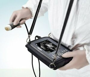 Portable Ultrasound Scanner System Machine Animal Veterinary Probe Case Trip New