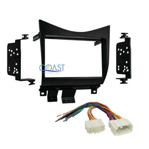 Double Din Car Radio Stereo Dash Kit Wire Harness For 2003 2007 Honda Accord