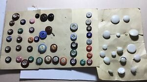 Antique China Buttons Different Colors Old Collection
