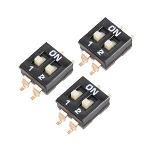 3 Pcs Black Dip Switch 1positions For Circuit Pcb Smd Type