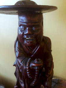 Chinese Carved Rosewood Antique Lamp
