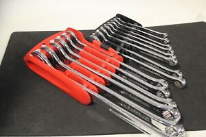 14pc Mac Tools precision Torque Sae Combination Wrench Set Scl14pt
