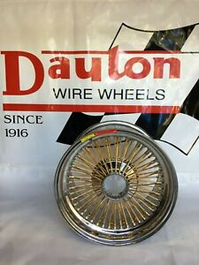 New Dayton Wire Wheels 16 X 9 Gold Spokes And Nips Standard Offset Set Of 4