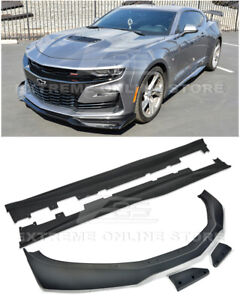 For 19 up Camaro Rs Ss Zl1 1le Style Front Lip Splitter Side Skirts Panel