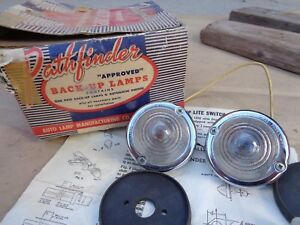 Nos Pathfinder Back Up Lamps Original Vintage Accessory Ford Chevy Dodge Truck