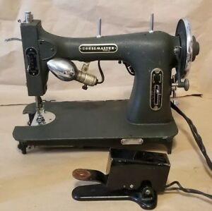 White Sewing Machine Dressmaster Rotary E 6354 Electric With Pedal Tested Works