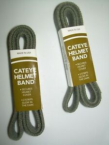Lot of 2- Gray Military Reflective CATS EYE BAND Helmet Pasg t Mich ach