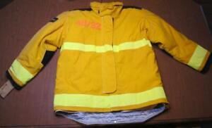 Lion Janesville Firefighter Fireman Turnout Gear Jacket Size 48 32 r d f1