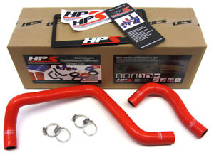 Hps Red Reinforced Silicone Radiator Hose Kit Coolant For Acura 94 01 Integra Ls